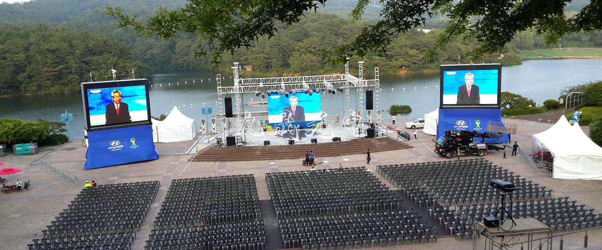 Korean Music Festival Stage LED Display
